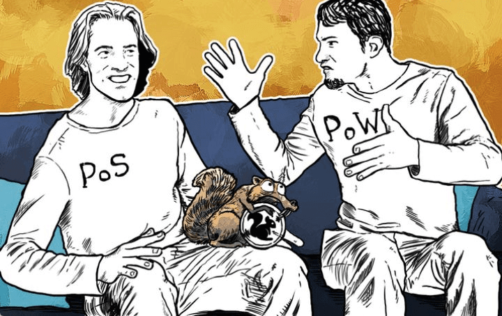 Алгоритми PoW і PoS в Blockchain (ілюстрація)